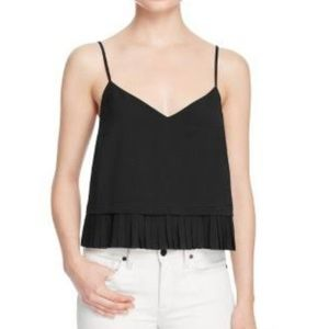French Connection polly pleated v- neck blouse